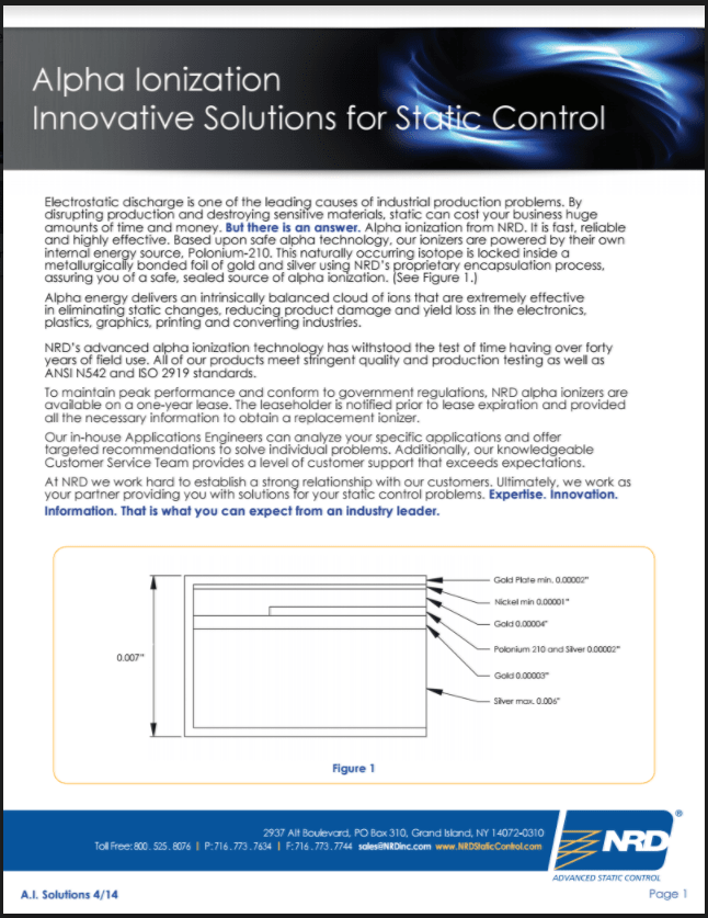 Alpha Ionization Innovative Solutions for Static Control