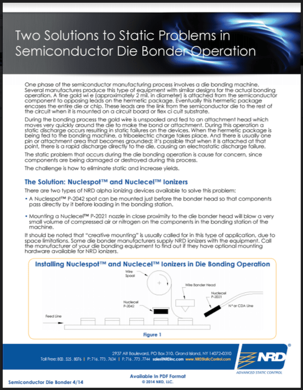 Two Solutions to Static Problems in Semiconductor Die Bonder Operation